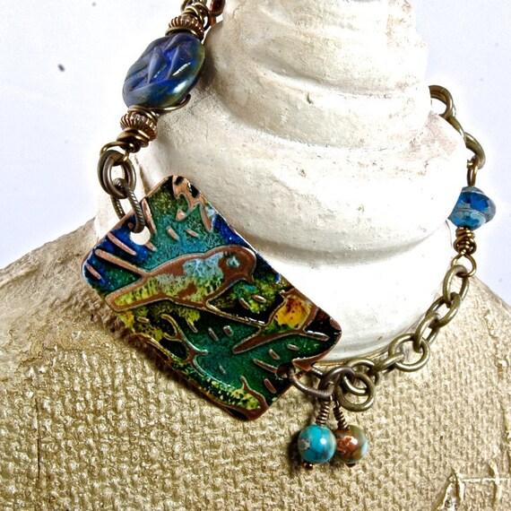 Love Birds as seen in Bead Trends May 2012 Cuff Artisan Bracelet