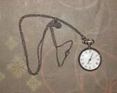 simple clock pendant- LAST in stock