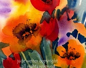 FLOWER PATCH signed Limited Run Print by Jude Welter
