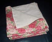 Double-Sided Rosey Cloth Napkins (set of 6)