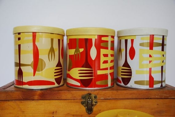 FOUR Vintage Canisters