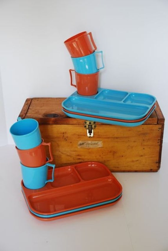 1950s Snack Set for Six