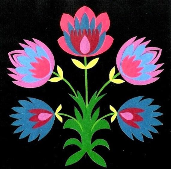 Custom Polish Papercut Flower Bouquet