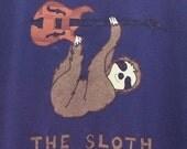 The Sloth PHISH inspired applique organic cotton tshirt
