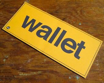 Straight Up Vinyl Billfold Wallet - School Bus Yellow