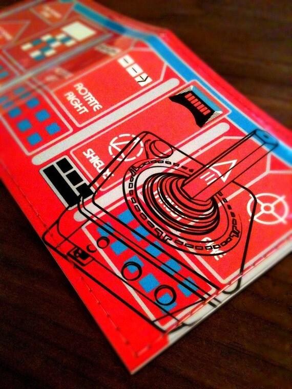 8 Bit wallet - Red Fireball