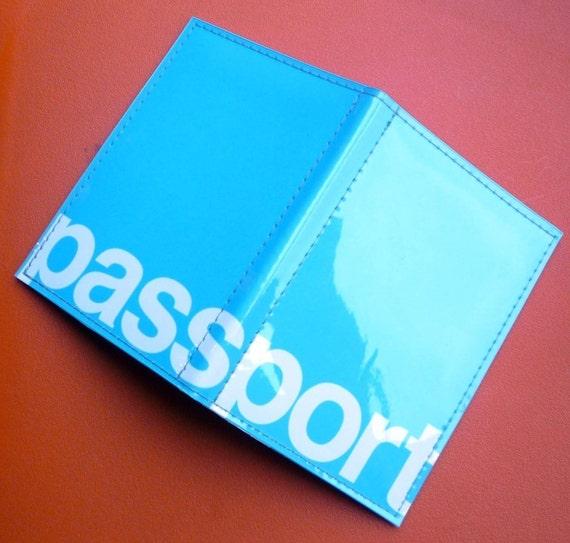 Airline blue passport case