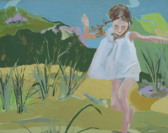 Girl Running - Limited Edition Print