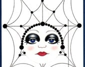Spider Woman--blank card with envelope