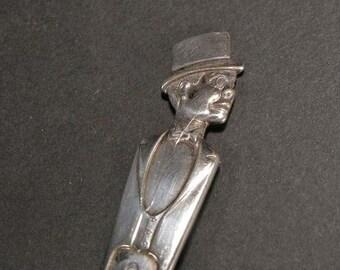 Vintage  Charlie McCarthy Silver plated Spoon Duchess Silver plate, 1930s Charlie Mc Carthy,Art Deco Characters