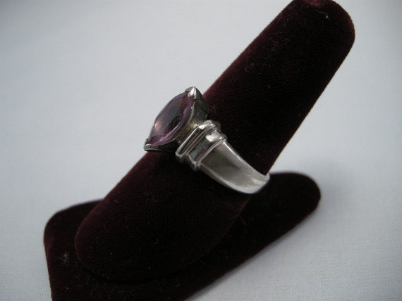 Amethyst Sterling Silver 8 3/4 Ring,Fashion Rings, Amethyst Color Rings, Silver Rings, Evening Ring, Amethyst Jewelry, Sterling **USA ONLY**