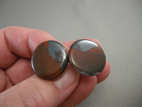 Mid Century Harvey Avedon Polished Stone Retro Cuffinks Pat Date 2920363