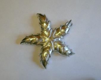Vintage Coro Silvertone Starfish Pin Brooch