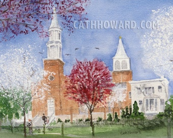 St. Peter's In Spring - watercolor