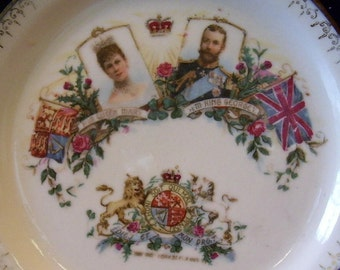 George V and Queen Mary Coronation Dessert Plate 1911