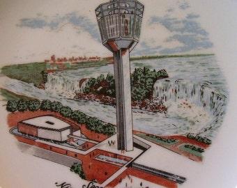 NIAGRA FALLS SEAGRAM Tower Souvenir Plate  1962 to 1969