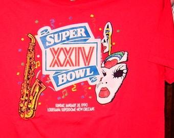 49ers T Shirt SUPER BOWL XXIV 1990 49ers win 55 to 10