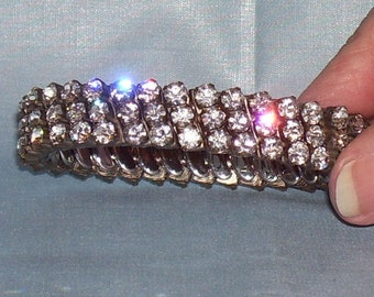 RHINESTONE Expansion BRACELET by PARCO Vintage 1950s