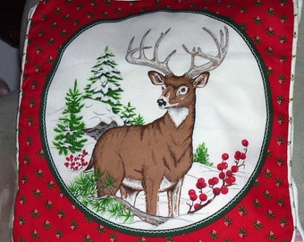 Stag Winter Pillow