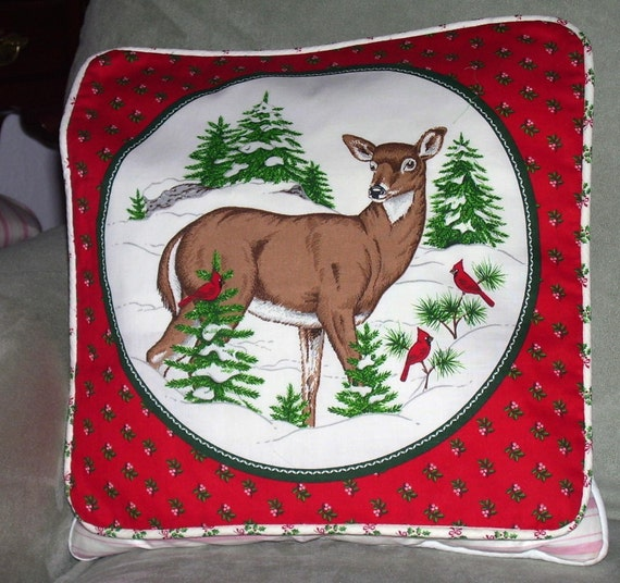 Doe Winter Pillow Cover