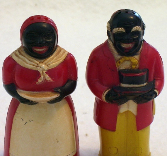 Salt and Pepper, Aunt JEMIMA and Uncle MOSE Vintage 1930s