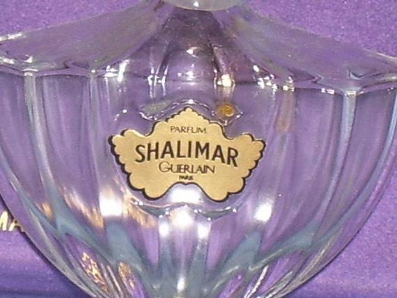 One-half oz SHALIMAR Perfume Bottle
