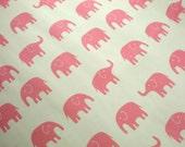 Cute Japanese Fabric - Large Elephant Pink - 1/2yd
