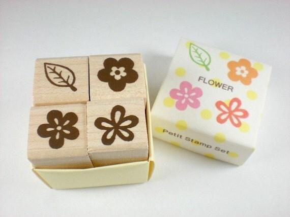 Petite Rubber Stamp Set - Flowers - Kodomo No Kao