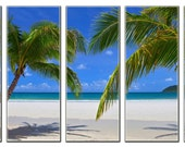 Sea Beach Nature HUGE Photo Painting Canvas Art Print FRAMED Ready to Hang- 5 Panels
