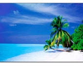 "Tropical Sea Beach Nature Photo Picture LARGE Canvas Print 30"" x 20"""
