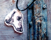 Dachshund Pendant, Sausage dog shrink plastic necklace