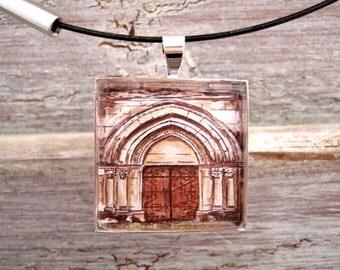 Priory Gothic Pendant, Church Door Art