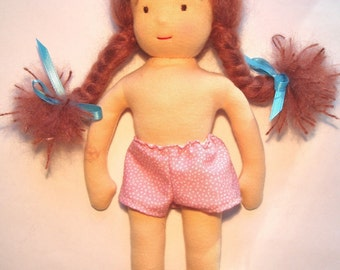 Waldorf 10-inch Dressable Play Doll PDF Pattern -- Pattern for DOLL ONLY, clothing not included