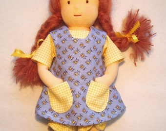 Waldorf 10-inch Dressable Doll Complete with 6-Piece Wardrobe PDF Pattern
