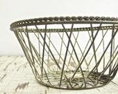 50% OFF SALE vintage metal wire bowl