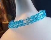 Blue Cube Wrap Bracelet