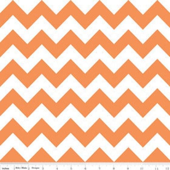 SALE END of BOLT 12 Inch Cut Riley Blake Designs Chevron in Orange, c320-60 Orange