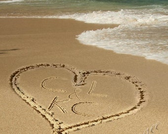 Custom Initials - Love in the Sand