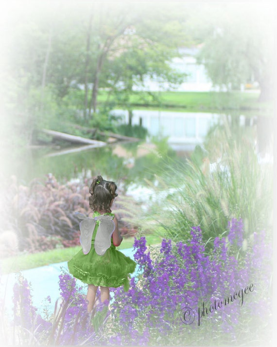 Art Photography - Irish Fairy in the Garden - St. Patrick's Day