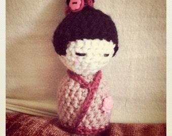 Crocheted Kokeshi Doll Pattern