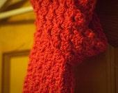 Salmon Crochet Scarf