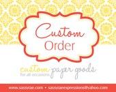 Custom Order for Mary Lauren