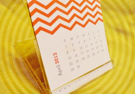 Chevron 2012 Desk Calendar