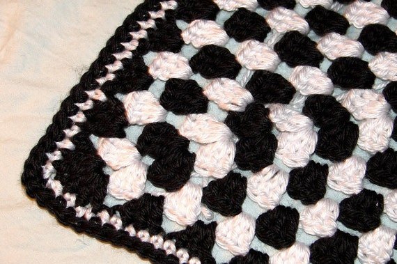 Crochet Blanket Black And White Black And White Crochet Granny