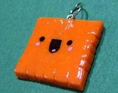 Happy Cheese Cracker Cheezit Charm - Handmade by The Happy Acorn