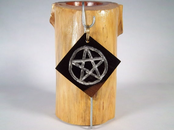 Handcrafted Ebony Wood Pentacle