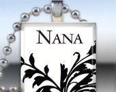 Buy 3 Pendants Get 1 Free Pendant - Scrabble Tile Pendant - Nana Ornate Jewelry (W508)
