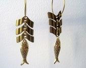 lucky fish spine earrings