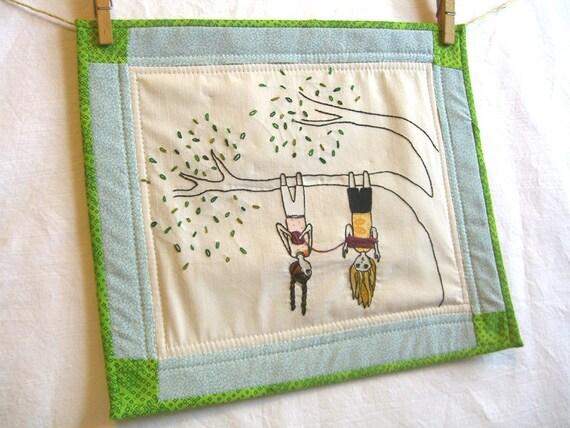 Winding Wool, Original Embroidery