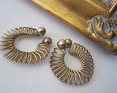 Around and Around - Vintage Spiral Gold Bud Earrings
